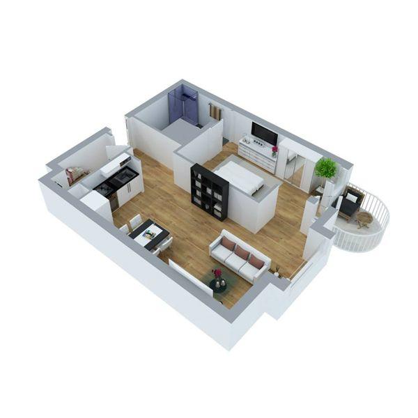 Appartement 1 (3D)